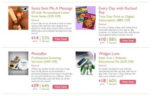 Sample of available Mamasource offers - Click to expand
