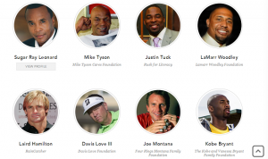Sample of IfOnly.com Sports Luminaries