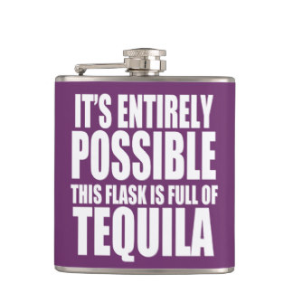 funny unique tequila flask