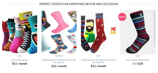 sock panda fun and unique sock subscription service