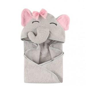 hudson hooded baby animal towel elephant