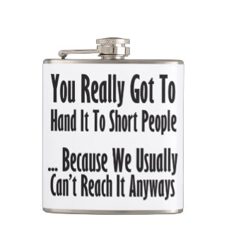 short people funny flask