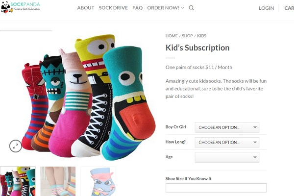 fun socks gift subscription with sockpanda