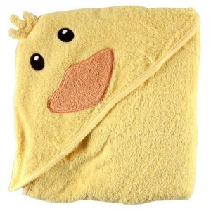 luvable friends animal hooded towel duck review