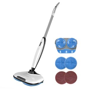 Comfyer Swift Cordless Electric Spin Mop Sweeper for Wood Floors